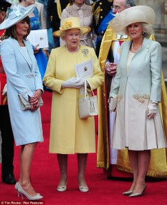 Carole Middleton, Queen Elizabeth II and the Duchess of Cornwall