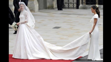 Catherine Middleton in a Sarah Burton gown